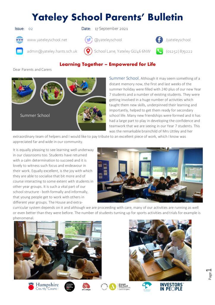 thumbnail of 02 Sept Parents bulletin 17.09.21 JB