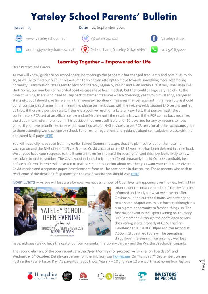 thumbnail of 03 Sept Parents bulletin 24.09.21 JB