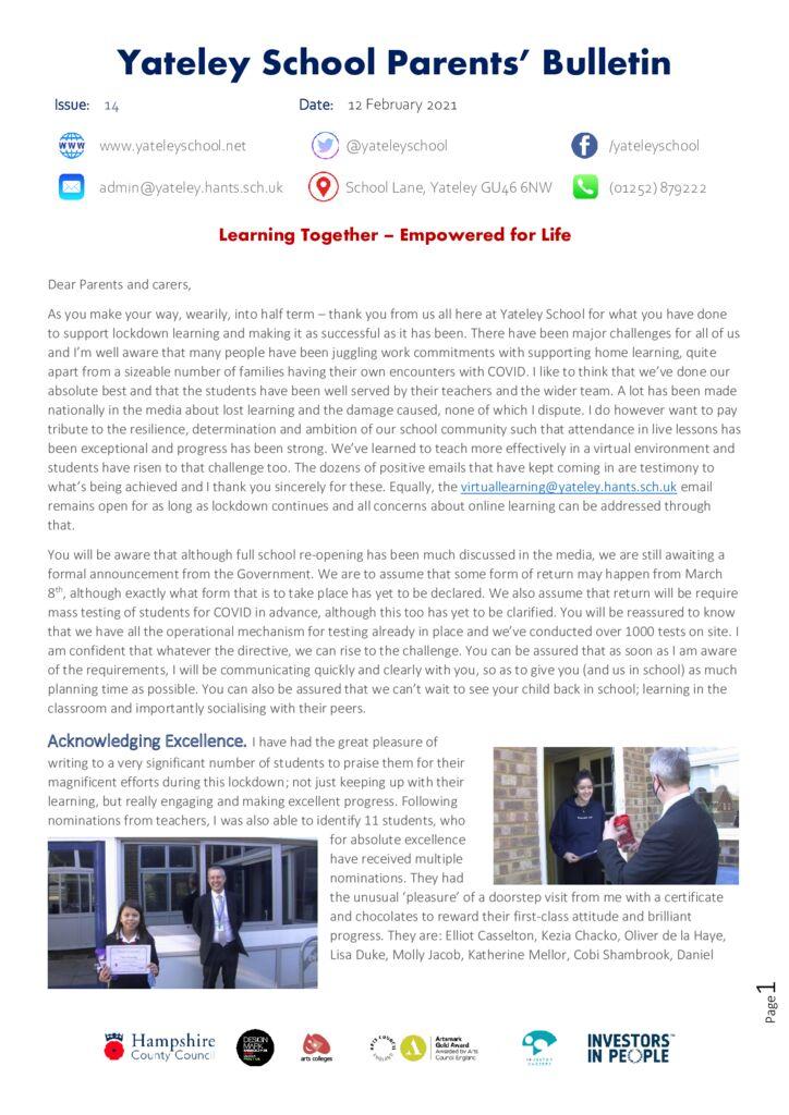 thumbnail of 14 Parent bulletin 12.2.21