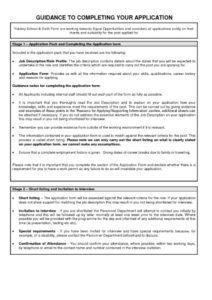 thumbnail of Guidance To Completing Your Application