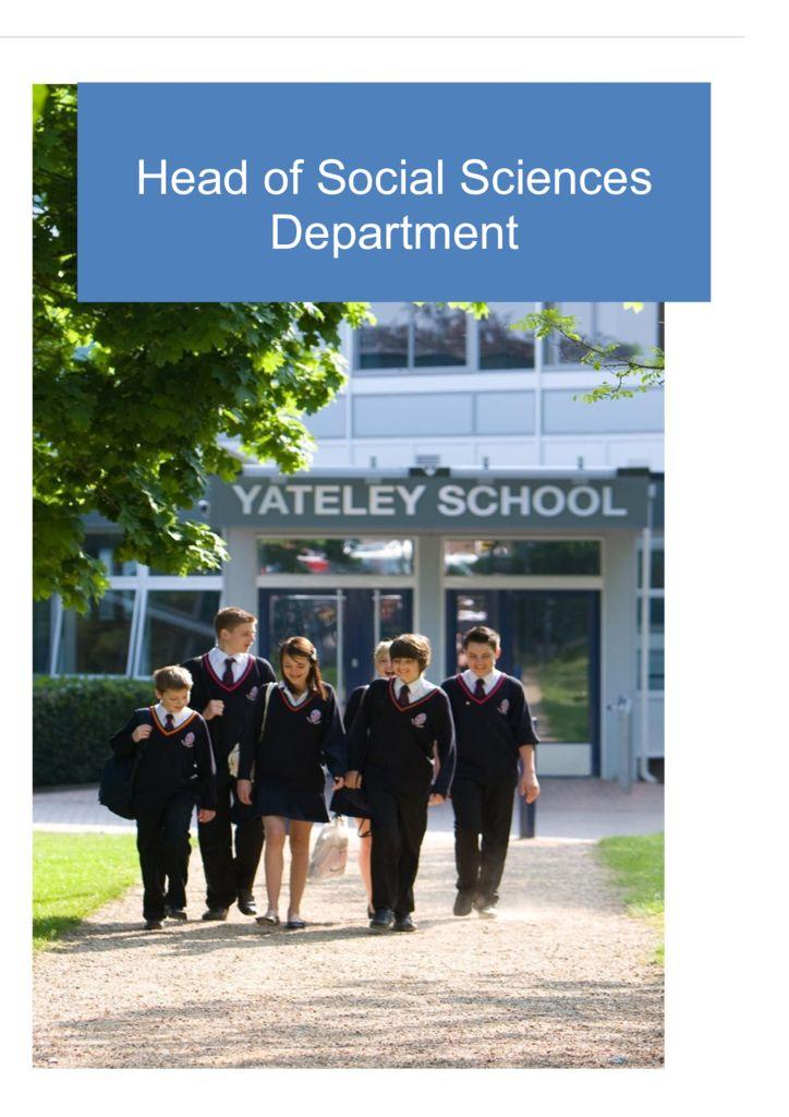 thumbnail of Head of Social Sciences Dept JD