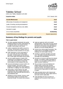 thumbnail of Ofsted Report – 2018