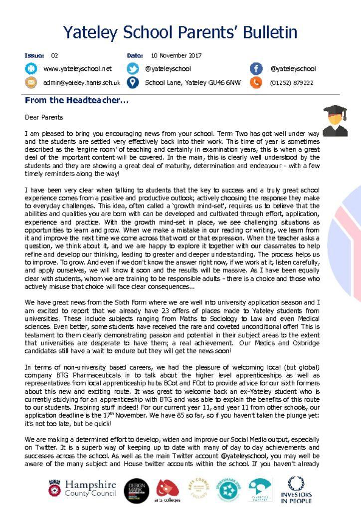 thumbnail of Yateley School Newsletter 02 10-11-17.