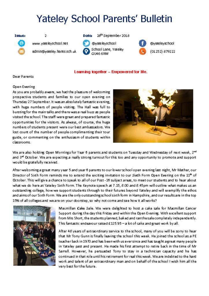 thumbnail of Yateley School Newsletter 02 28-09-18