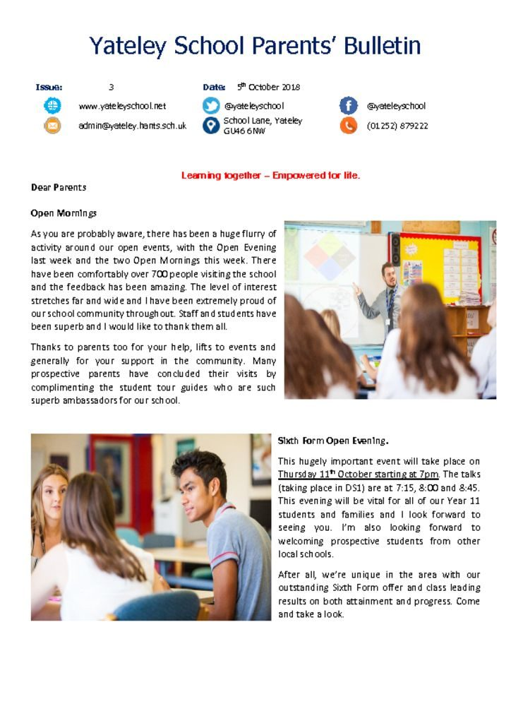 thumbnail of Yateley School Newsletter 03 05-10-18