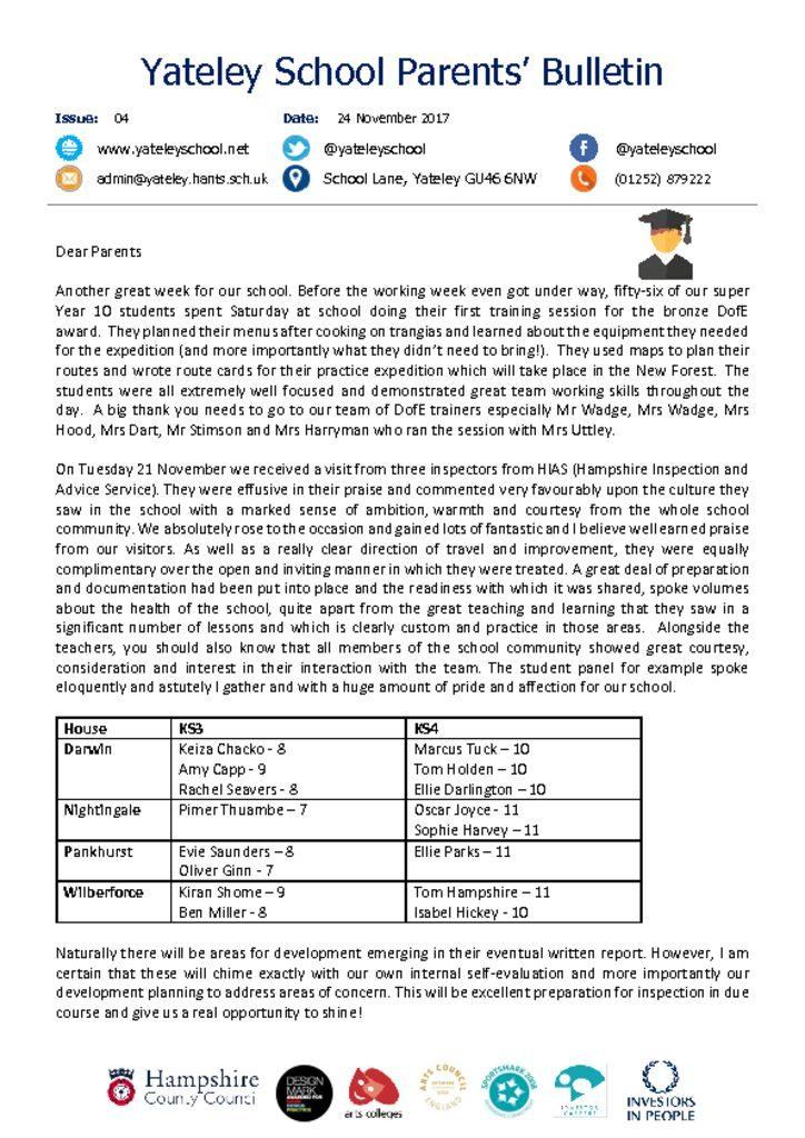 thumbnail of Yateley School Newsletter 04 24-11-17