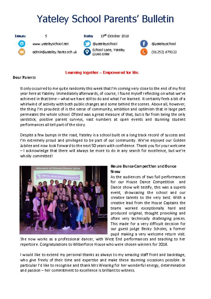 thumbnail of Yateley School Newsletter 05 19-10-18