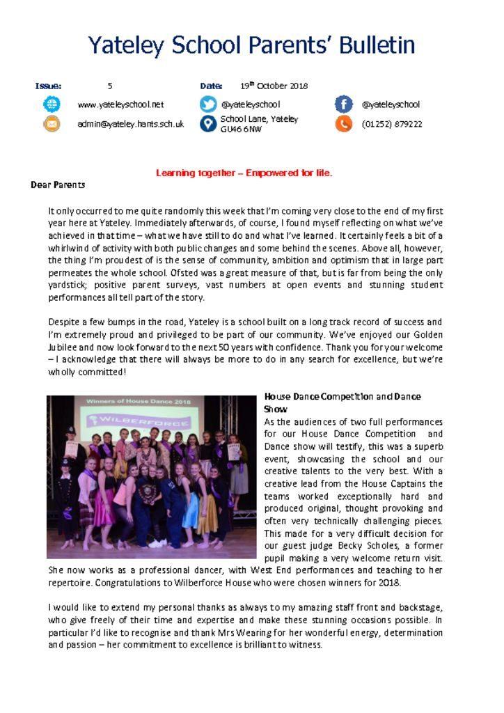 thumbnail of Yateley School Newsletter 05 19-10-18