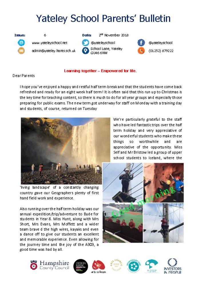 thumbnail of Yateley School Newsletter 06 02-11-18