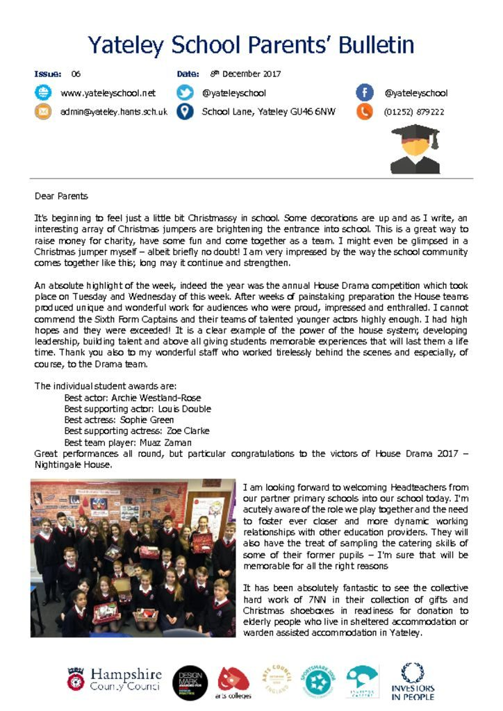thumbnail of Yateley School Newsletter 06 08-12-17