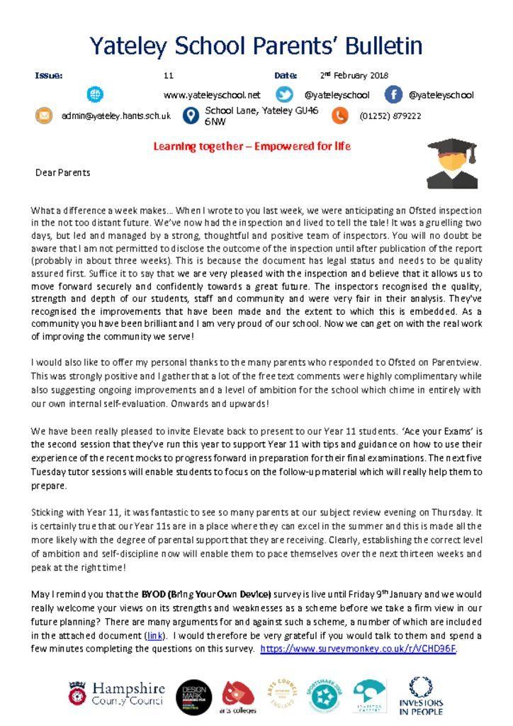 thumbnail of Yateley School Newsletter 11 02-02-18