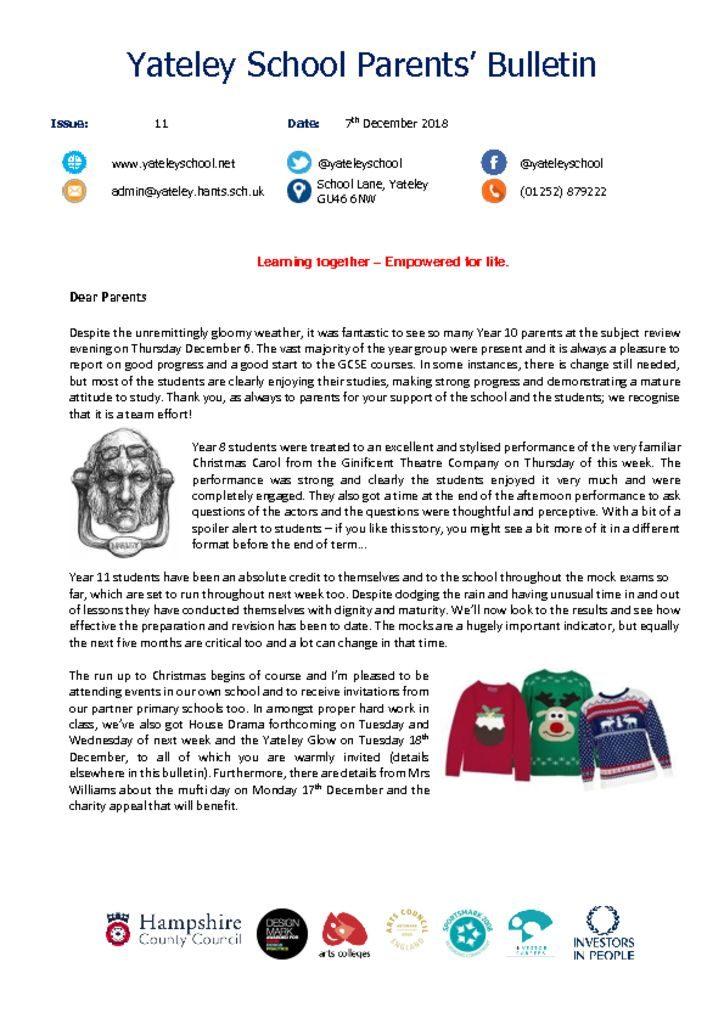 thumbnail of Yateley School Newsletter 11 07-12-18
